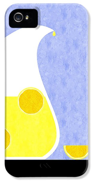 Lemonade And Glass Blue IPhone 5 Case by Andee Design