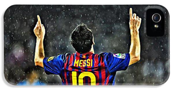 Leo Messi Poster Art IPhone 5 Case