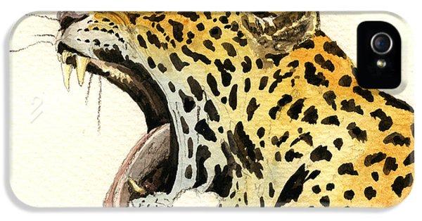 Leopard Head IPhone 5 / 5s Case by Juan  Bosco