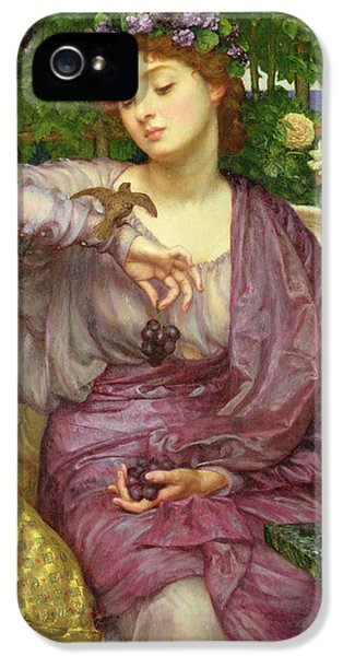 Lesbia And Her Sparrow IPhone 5 Case by Sir Edward John Poynter