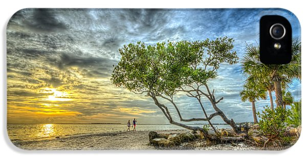 Beach Sunset iPhone 5 Case - Let's Stay Here Forever by Marvin Spates