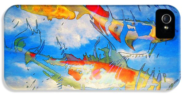 Koi iPhone 5 Case - Life Is But A Dream - Koi Fish Art by Sharon Cummings