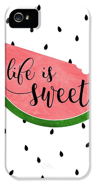 Life Is Sweet - Watermelon IPhone 5 Case