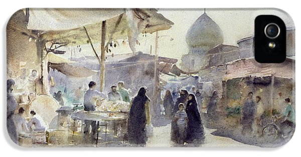 Light And Shade, Shiraz Bazaar, 1994 Wc On Paper IPhone 5 Case by Trevor Chamberlain