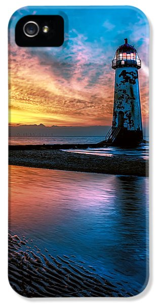 Light House Sunset IPhone 5 Case by Adrian Evans