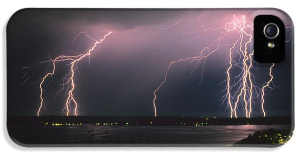 Lightning Strike IPhone 5 Case by King Wu