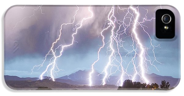 Lightning Striking Longs Peak Foothills 4c IPhone 5 Case