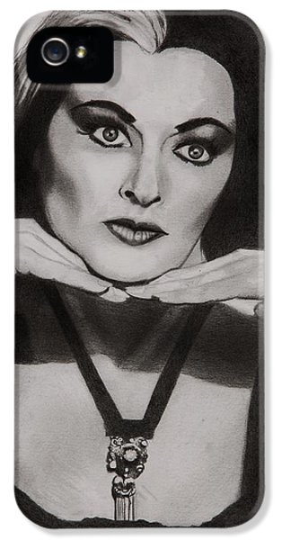 Lily Munster IPhone 5 Case by Brian Broadway