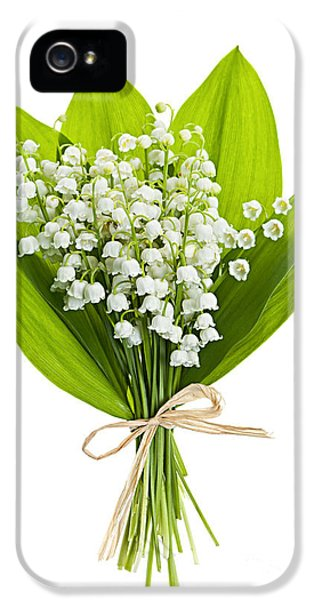 Lily-of-the-valley Bouquet IPhone 5 Case by Elena Elisseeva