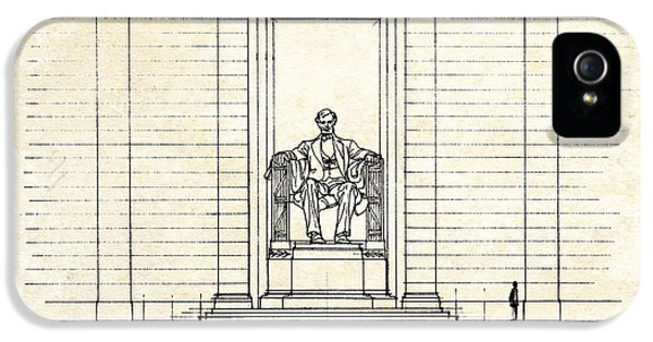 Lincoln Memorial Sketch IPhone 5 Case by Gary Bodnar