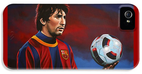 Lionel Messi 2 IPhone 5 Case by Paul Meijering