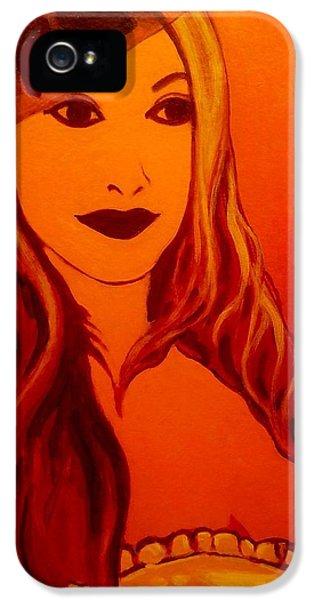 Lisa Darling II - The Irish Burlesque School IPhone 5 Case by John  Nolan