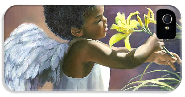 Lily iPhone 5 Case - Little Black Angel by Laurie Hein