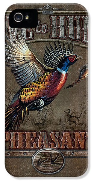 Pheasant iPhone 5 Case - Live To Hunt Pheasants by JQ Licensing