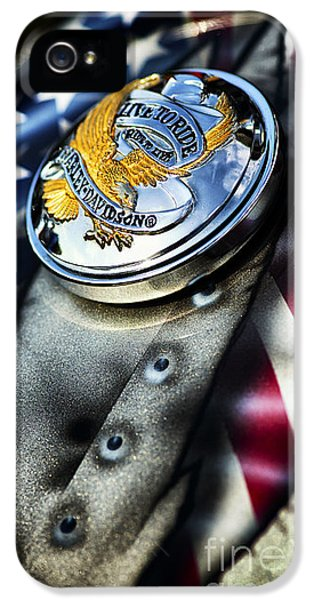 Live To Ride Harley Davidson IPhone 5 Case by Tim Gainey