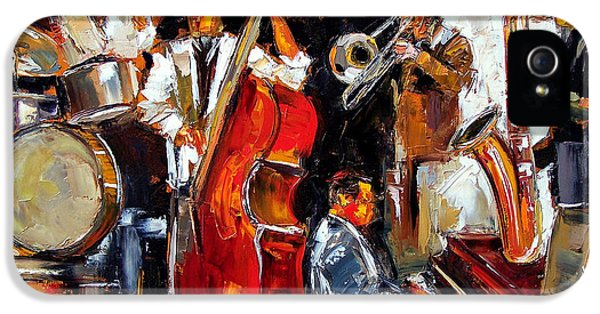 Trombone iPhone 5 Case - Living Jazz by Debra Hurd