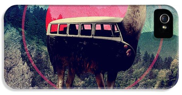 Llama iPhone 5 Case - Llama by Ali Gulec
