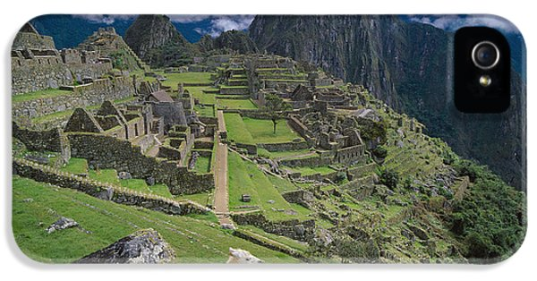 Llama At Machu Picchus Ancient Ruins IPhone 5 / 5s Case by Chris Caldicott