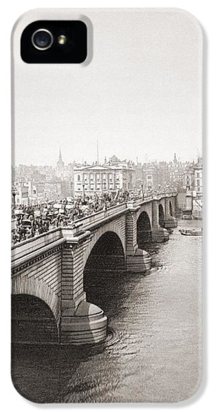 London Bridge, London, England In The Late 19th Century. From London, Historic And Social IPhone 5 Case