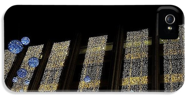 #london #decorative #lights #christmas IPhone 5 Case