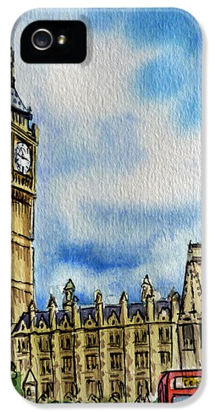 London England Big Ben IPhone 5 Case by Irina Sztukowski