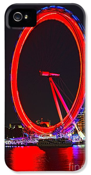 London Eye Red IPhone 5 Case by Jasna Buncic