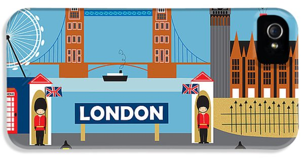 London England Skyline By Loose Petals IPhone 5 Case by Karen Young