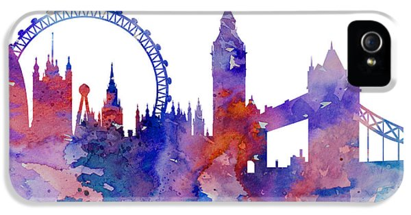 London IPhone 5 Case by Watercolor Girl