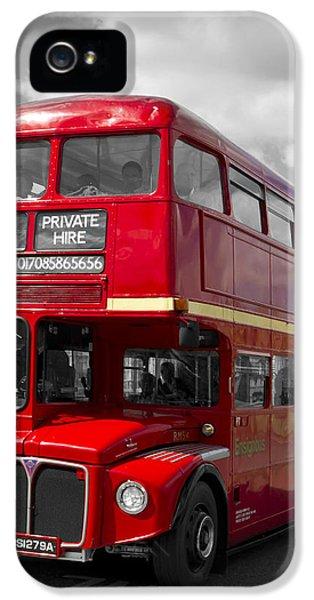 London Red Buses On Westminster Bridge IPhone 5 Case by Melanie Viola