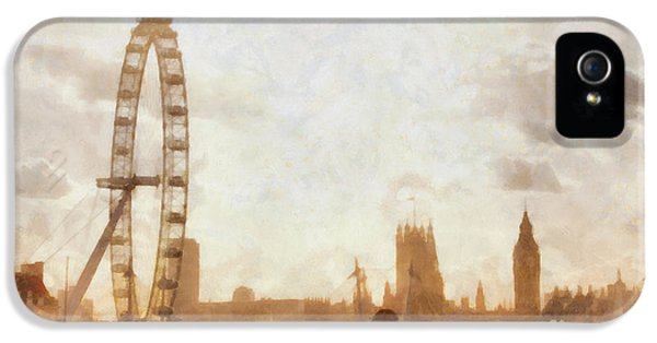 London Skyline At Dusk 01 IPhone 5 Case by Pixel  Chimp