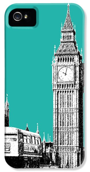 London Skyline Big Ben - Teal IPhone 5 Case by DB Artist