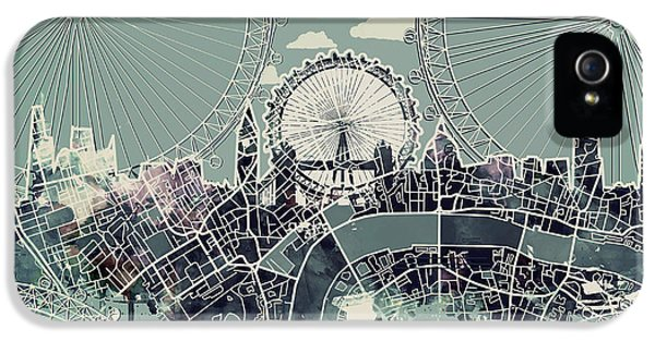 London Skyline Vintage IPhone 5 Case
