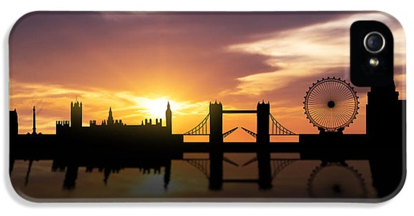 London Sunset Skyline  IPhone 5 Case by Aged Pixel
