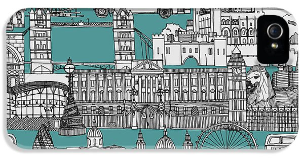 London Toile Blue IPhone 5 Case by Sharon Turner