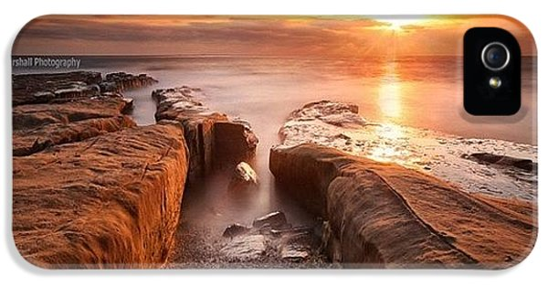iPhone 5 Case - Long Exposure Sunset At A Rocky Reef In by Larry Marshall