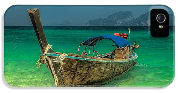 Boat iPhone 5 Case - Longboat by Adrian Evans