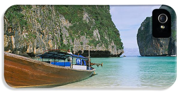 Longtail Boats Moored On The Beach IPhone 5 Case
