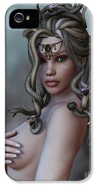 Gorgon iPhone 5 Case - Look Deep Within by Alexander Butler