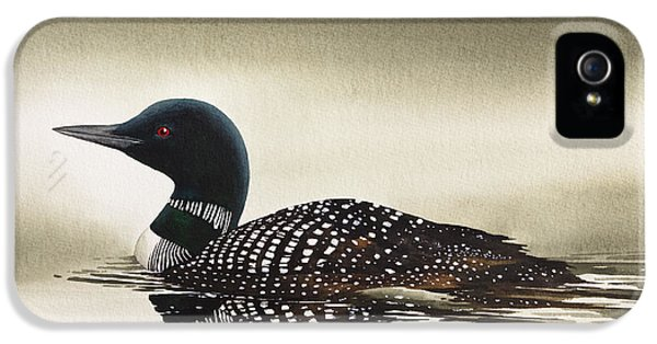 Loon In Still Waters IPhone 5 Case by James Williamson