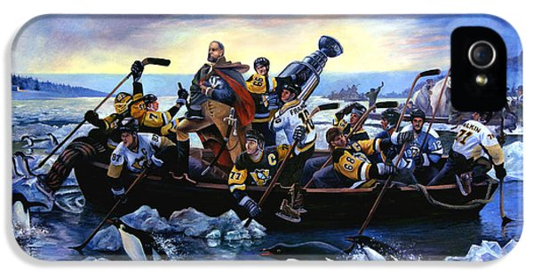 Lord Stanley And The Penguins Crossing The Allegheny IPhone 5 Case