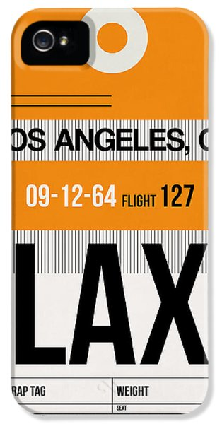 Los Angeles Luggage Poster 2 IPhone 5 Case by Naxart Studio