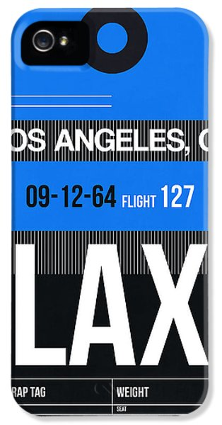 Los Angeles Luggage Poster 3 IPhone 5 Case by Naxart Studio