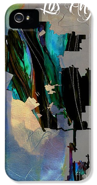 Los Angeles Map Watercolor IPhone 5 Case by Marvin Blaine