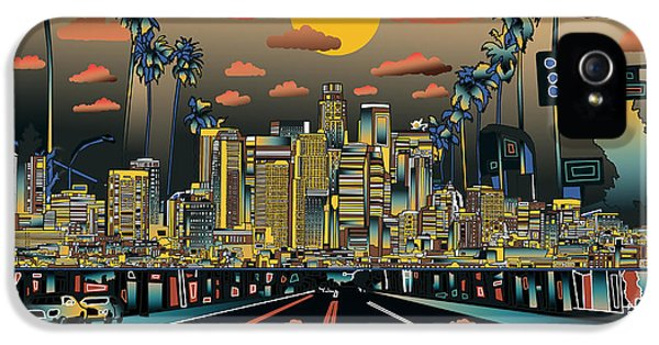 Los Angeles Skyline Abstract 2 IPhone 5 Case