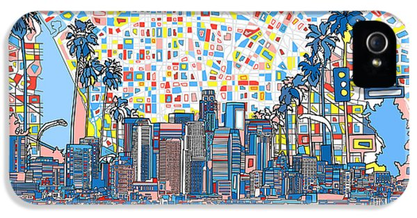 Los Angeles Skyline Abstract 3 IPhone 5 Case