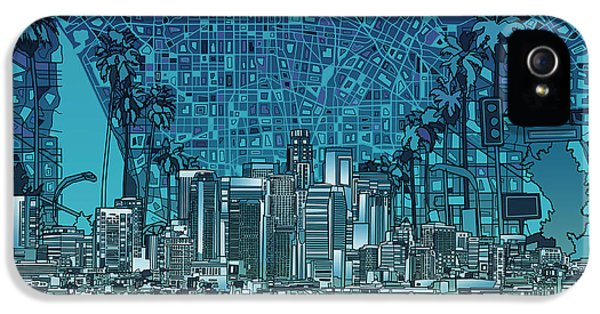 Los Angeles Skyline Abstract 5 IPhone 5 Case