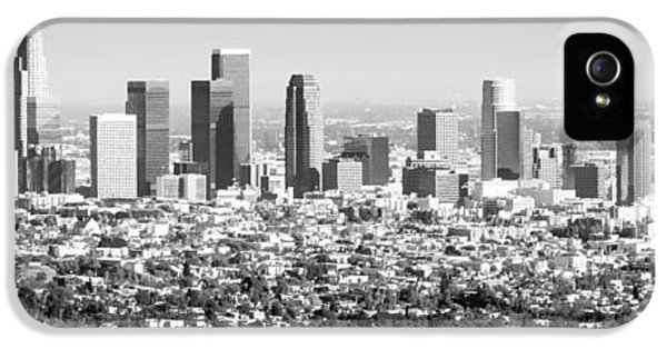 Los Angeles Skyline Panorama Photo IPhone 5 Case by Paul Velgos
