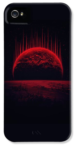 Lost Home Colosal Future Sci Fi Deep Space Scene In Diabolic Red IPhone 5 Case