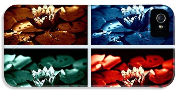 Lotus Flowers Collage IPhone 5 Case by Susanne Van Hulst