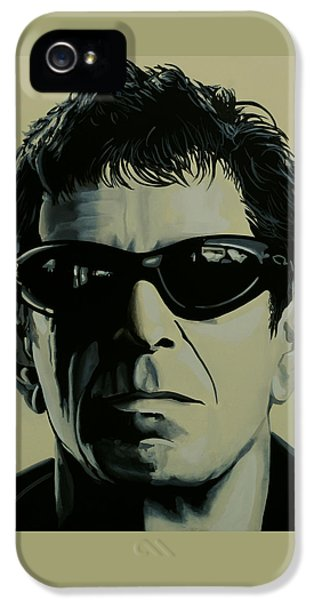 Lou Reed Painting IPhone 5 Case by Paul Meijering
